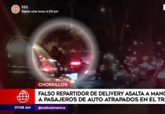 Chorrillos: falso repartidor de delivery asalta a pasajeros aprovechando congestión vehicular