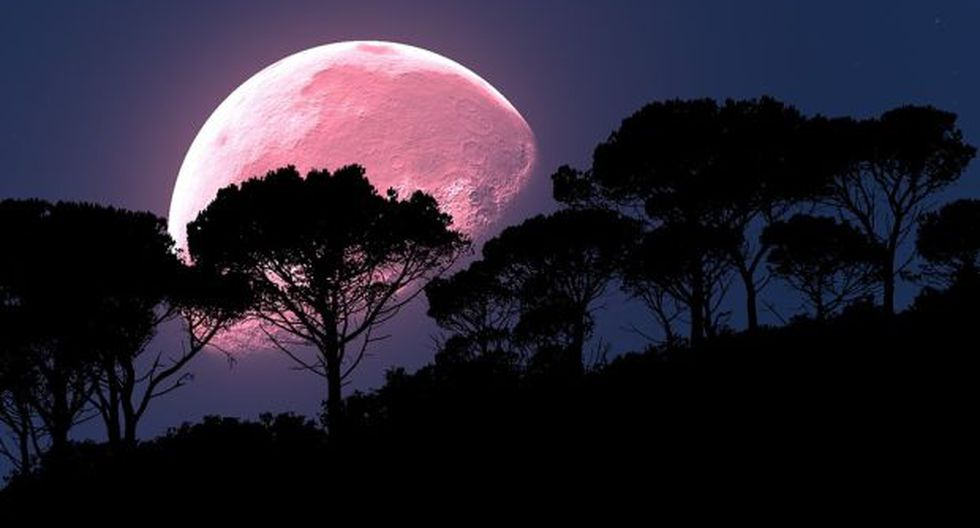 La Luna rosa iluminará esta noche. (Foto: Pixabay CC0)