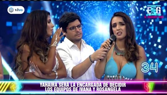 La salsera Yahaira Plasencia llegó al reality juvenil para presentar su nuevo tema 'Cobarde'.  (Foto: Captura de televisión)