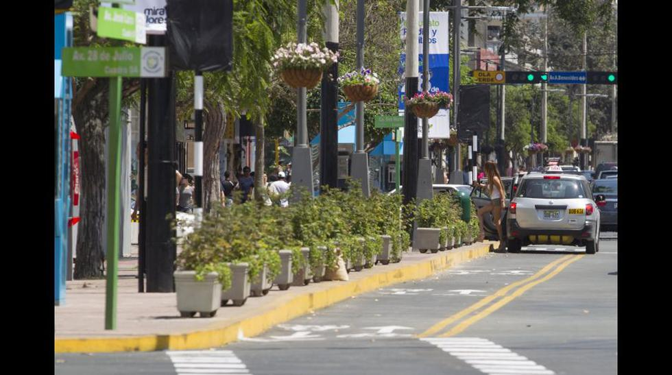 La riesgosa ciclovía de la Av. Larco en Miraflores - 1