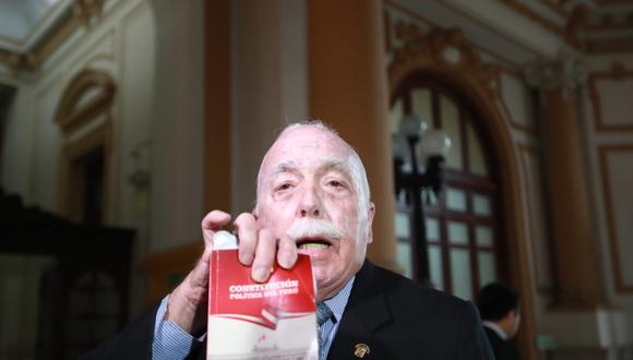 Carlos Tubino aseguró que planea volver al Congreso porque considera que su salida fue inconstitucional. (Foto: Lino Chipana/GEC)