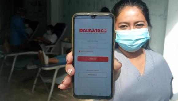 La donación de sangre toma 30 minutos, los varones pueden donar hasta cuatro veces al año; las mujeres, tres veces. La app tiene como objetivo facilitar la inscripción de voluntarios. (Foto: Dale Vida Perú)
