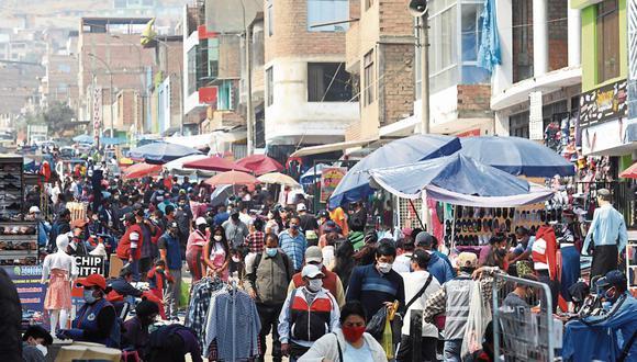 Esta fotografía fue tomada el pasado 5 de julio en un mercado del distrito limeño de Carabayllo (GEC/Gonzalo Córdova)