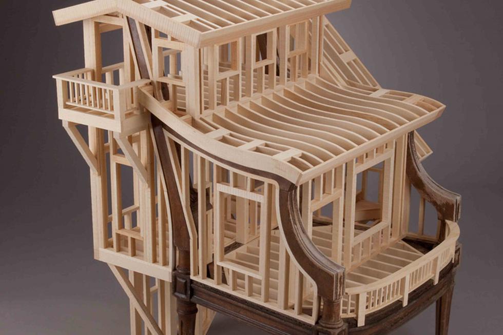 Artista transforma muebles antiguos en obras de arte - 1