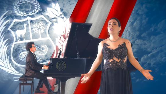 El himno del Bicentenario de la Independencia del Perú fue escrito por María Victoria Vásquez. (Foto: Captura @Universidad.Nacional.de.Musica.Peru)