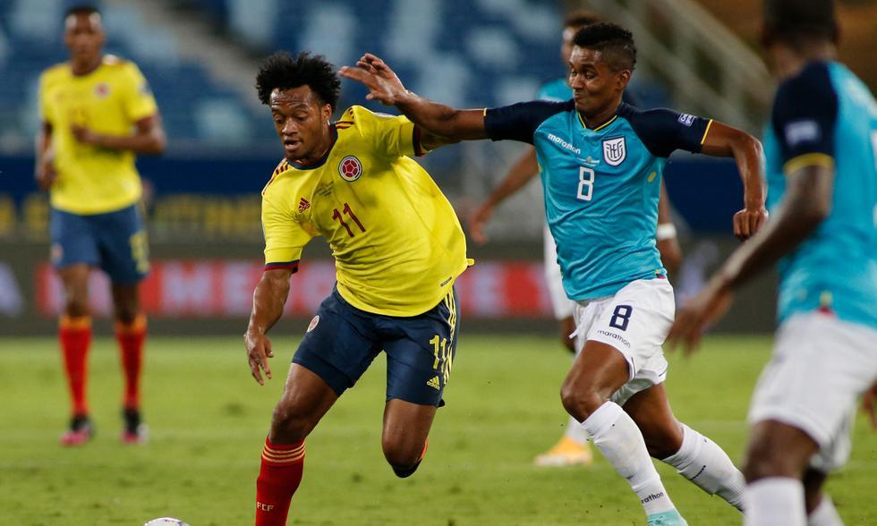 Colombia vs. Ecuador por Copa América 2021 Foto: AFP
