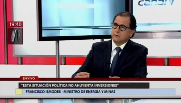 El ministro Ísmodes se pronunció sobre los temas de coyuntura política ligados a su sector. (Foto: Captura)