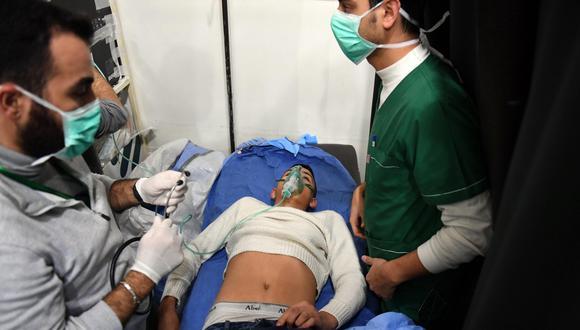 Siria: ataque químico con gas cloro en Alepo atribuido a rebeldes afecta a más de 100 personas. (EFE).