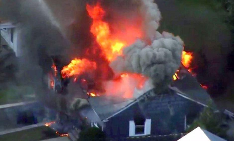 Al menos 23 edificios se han visto afectados por una serie de explosiones de gas en Massachusetts, Estados Unidos. (Foto: Twitter)