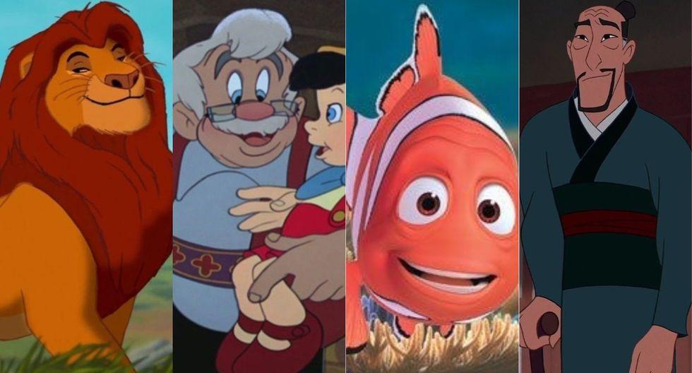 Estos son los papás más representativos de las películas de Disney. (Foto: Disney)