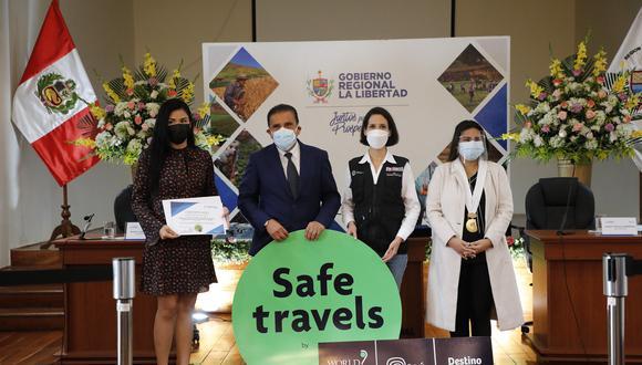 """""""Es una satisfacción saludar la entrega de este importante distintivo a más atractivos turísticos del Destino Trujillo"""", señaló la ministra de turismo,Claudia Cornejo. (Mincetur)"""