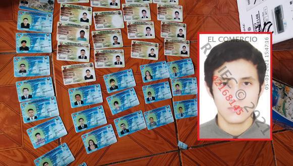 Cuando los efectivos lo intervinieron abordo de una motocicleta con placa y tarjeta de propiedad falsa, el fiscal de turno ordeno el registro de su domicilio (Foto: GEC)