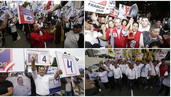 Los partidos que participan de las elecciones están obligados a cerrar sus campañas este jueves. (Fotos: GEC)