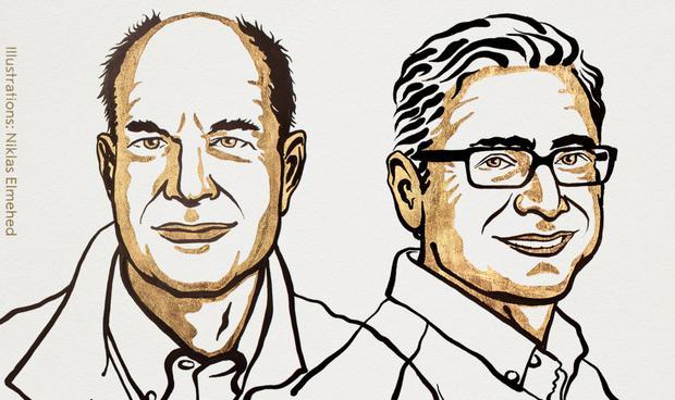 David Julius ed Erdem Patbutian.  (Premio Nobel)