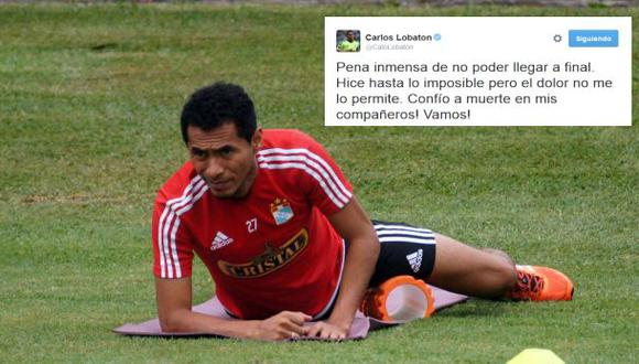 Carlos Lobatón no jugará la final ante Melgar