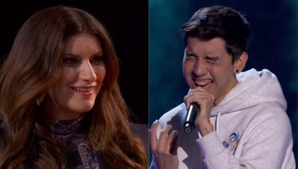 """La Voz"": Peruano impresionó a Laura Pausini con interpretación de ""Earned it"". (Foto: captura de video)"