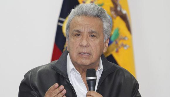 El presidente ecuatoriano, Lenín Moreno, en la mesa de diálogo nacional, en la que se logró un acuerdo con el movimiento indígena para poner fin a doce días de violencia en Quito. (Foto: Archivo/ EFE/Presidencia Ecuador).