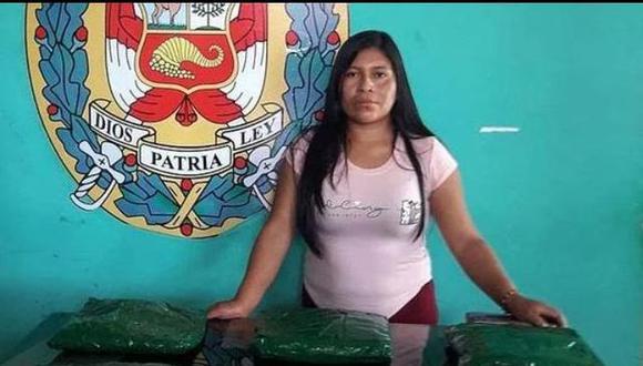 Yeny Solidad Quispe fue intervenida en Tacna transportando maletas con drogas. En la imagen, la candidata durante el día de su detención.  (Foto: Policía Nacional del Perú)
