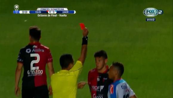 Diego Haro expulsó a Leonardo Heredia (Colón) y Jarla Barrera (Junior) | Foto: captura