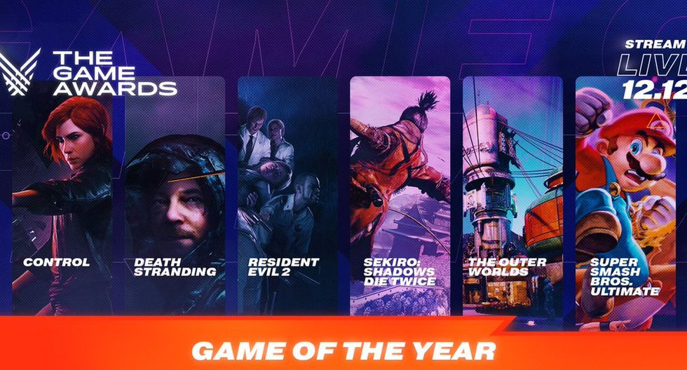 Los nominados a juego del año en The Game Awards 2019. (Foto: The Game Awards)