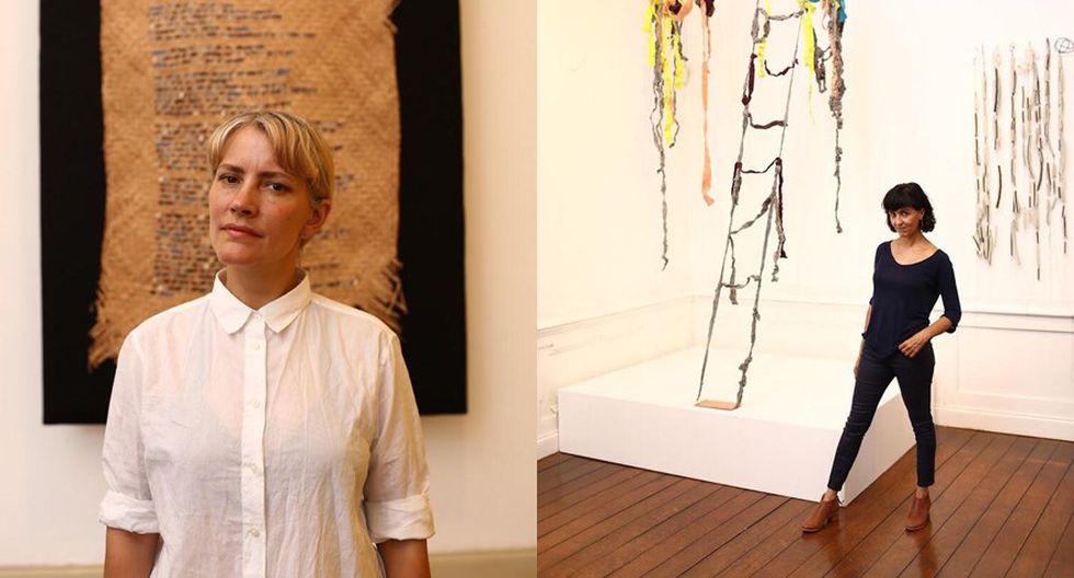 """Las artistas Elisenda Estrems y Nani Cárdenas exponen """"Mitad ceniza, mitad latido"""". (Fotos: Víctor Idrogo)"""