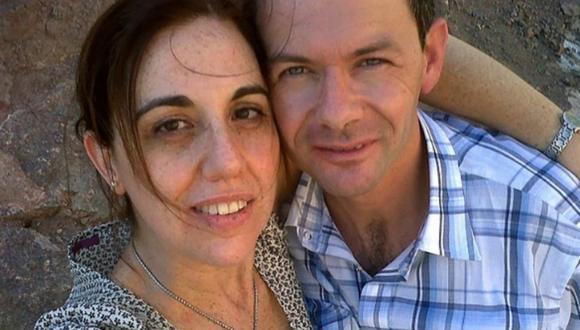 En la foto Julián Mondragón y Andrea Verino, hermano y cuñada de Romina, quien dará a luz a su sobrino.