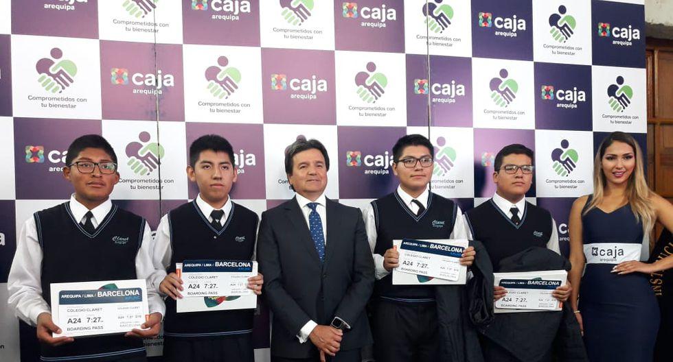 Los alumnos ganadores de Arequipa. (Foto: Zenaida Condori)