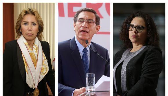 Fiscales Sandra Castro y Rocío Sánchez se reunieron con el expresidente Martín Vizcarra en el 2018.