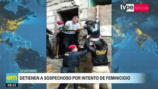 La Victoria: Sospechoso de feminicidio intenta huir por la ventana, pero policías logran detenerlo
