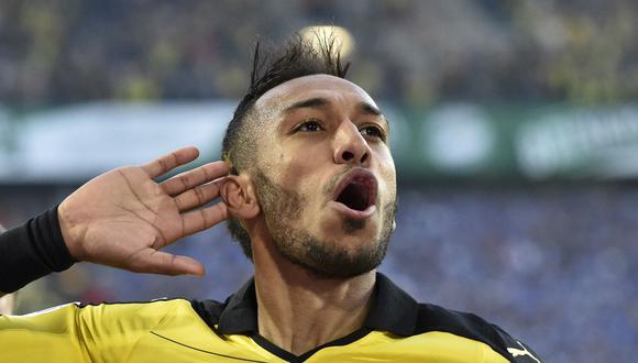 Se especuló que algunos clubes chinos estaban interesados en Pierre-Emerick Aubameyang. El gabonés nunca recibió una oferta concreta y, por ello, decidió seguir en Borussia Dortmund. (Foto: AFP)