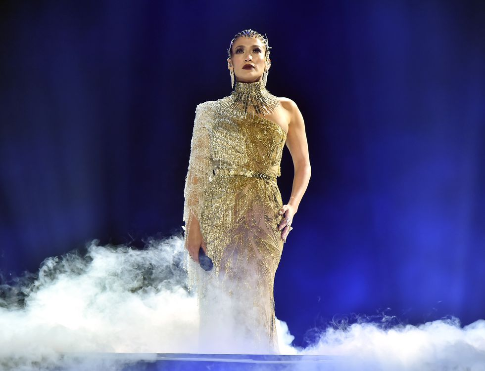 Jennifer Lopez performed at the Maluma concert at Madison Square Garden in New York. (Photo: AFP)