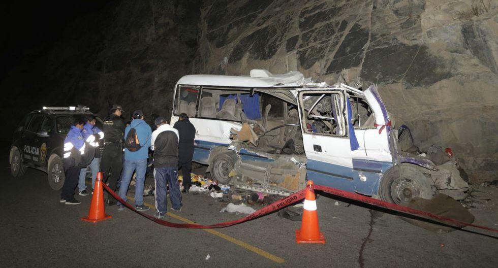 El accidente de tránsito ocurrió el pasado lunes, en la carretera Lima-Canta.