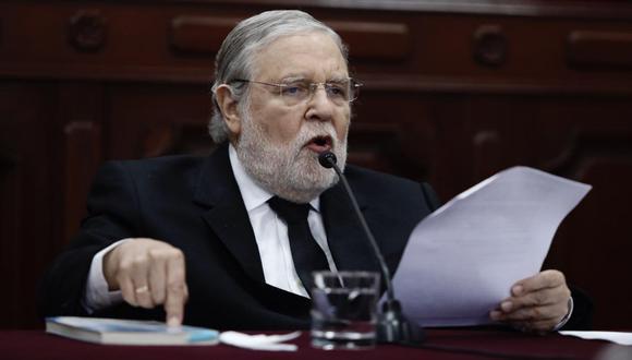 """Blume dijo que """"el primer paso"""" que se tomará en el pleno del TC este jueves será """"definir quién es el ponente"""" de la demanda competencial del disuelto Congreso. (Foto: GEC)"""