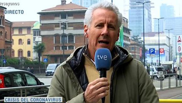 Lorenzo Milá, enviado especial a Milán de Televisión Española. (Facebook | TVE)