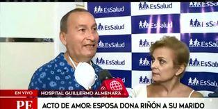 ¡En la salud y en la enfermedad! Esposa dona riñón a su marido en el 'Día del amor'
