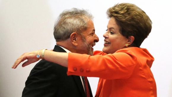 Lula da Silva y Dilma Rousseff, ex presidentes de Brasil y líderes del Partido de los Trabajadores. (Foto: EFE)