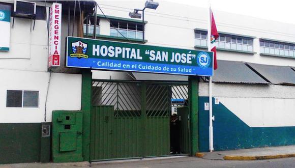 El hospital San José del Callao fue escenario del escape de otro delincuente. El hampón fugó durante la madrugada del domingo. (Foto: Difusión)