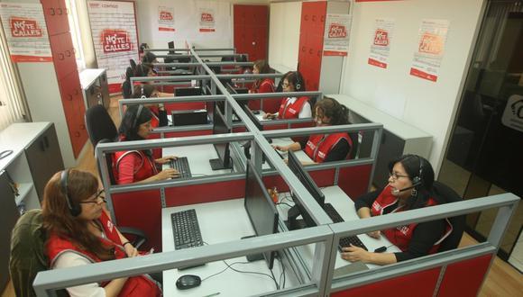 La mayor cantidad de llamadas provinieron de  Lima Metropolitana con 58.406. (Foto: GEC)