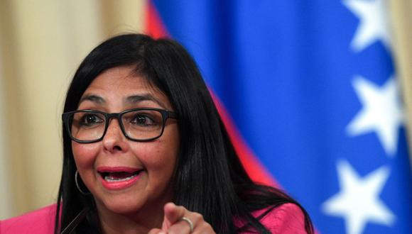 La vicepresidenta de Venezuela, Delcy Rodríguez, dijo que su país no recibirá las vacunas de AstraZeneca contra el coronavirus. (Foto: Kirill KUDRYAVTSEV / AFP).