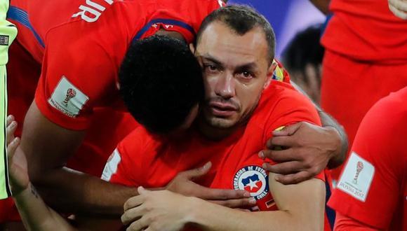 """Marcelo Díaz tras error en gol de Alemania: """"Soy el único responsable de la derrota"""". (Foto: AFP)"""