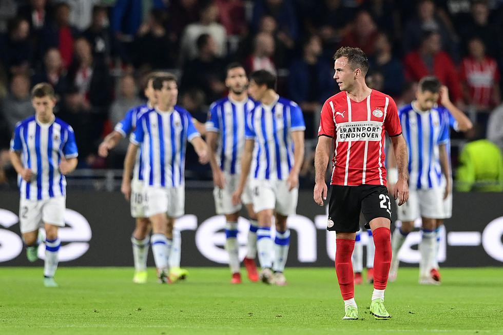 Real Sociedad enfrentó al PSV por la Europa League