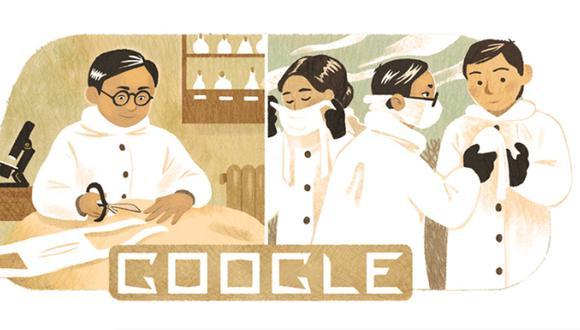 Con un doodle conmemoran el cumpleaños 142 del epidemiólogo Wu Lien-teh. (Foto: Google)