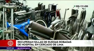 Policías recuperan más de 20 sillas de ruedas robadas del Hospital Loayza