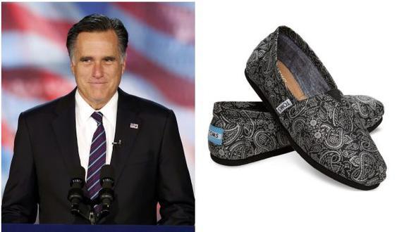 ¿Qué relación tienen desde hoy Mitt Romney y los zapatos Toms?
