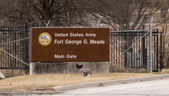 Una imagen de la base militar de Fort Meade, en Washington. (SAUL LOEB / AFP).