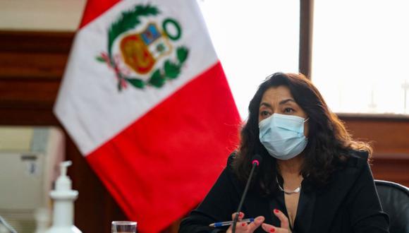 La primera ministra, Violeta Bermúdez, se refirió a la posibilidad de una interpelación o censura en el Congreso. (Foto: Andina)