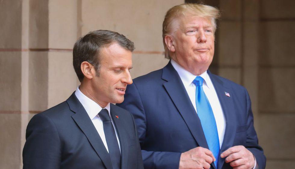 El presidente francés Emmanuel Macron espera conciliar con sus pares en un camino de apaciguamiento sobre la crisis en Irán. (Foto: AFP)