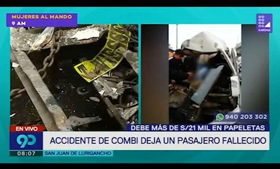 Accidente en Av. Próceres de la Independencia deja un muerto y al menos 15 heridos (Captura: Latina)