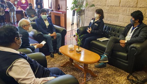 Arequipa: premier y ministra de salud coordinaron mejor flujo de atención hospitalaria COVID-19 (Foto: Minsa)
