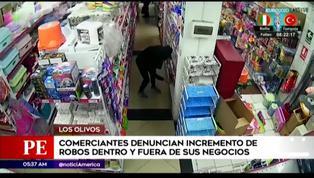 Los Olivos: comerciantes denuncian incremento de robos en la zona